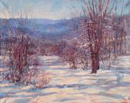 #2 Julian February Snow, oil on canvas, 18x20, 2015